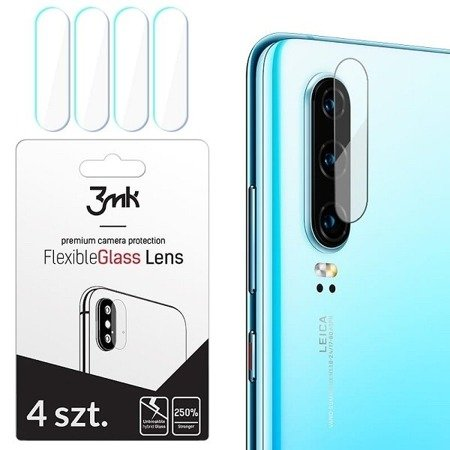 3MK FlexibleGlass Lens iPhone X Szkło hybrydowe na obiektyw aparatu 4szt