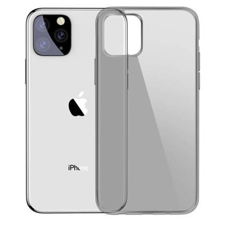 Baseus Simple Series Case przezroczyste żelowe etui iPhone 11 Pro Max czarny (ARAPIPH65S-01)