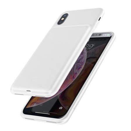 Baseus etui pokrowiec + wbudowany power bank 3300mAh iPhone XS / iPhone X biały (ACAPIPH58-ABJ02)