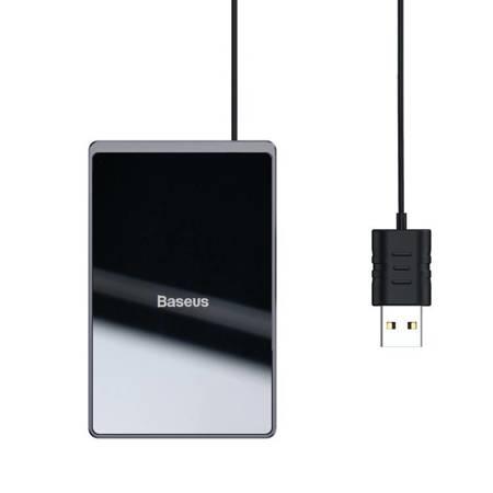 Baseus ultra cienka indukcyjna bezprzewodowa ładowarka Qi 15W z kablem USB 1m czarny (WX01B-01)