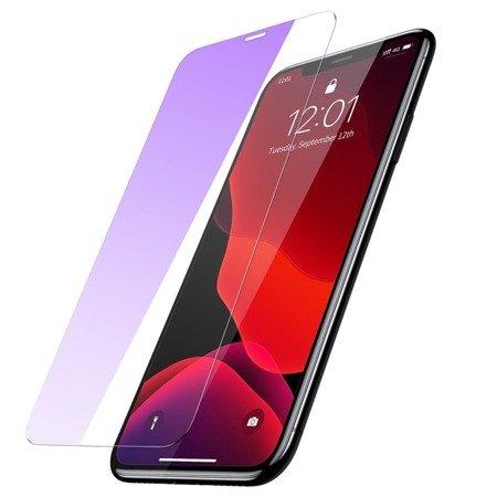 Baseus zestaw 2x szkło hartowane 0.15mm 9H Anti-bluelight iPhone 11 Pro / iPhone XS / iPhone X + pozycjoner (SGAPIPH58S-FC02)