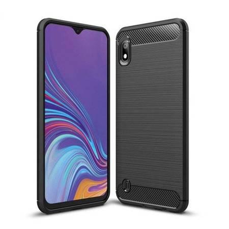 Carbon Case elastyczne etui pokrowiec Samsung Galaxy A10 czarny