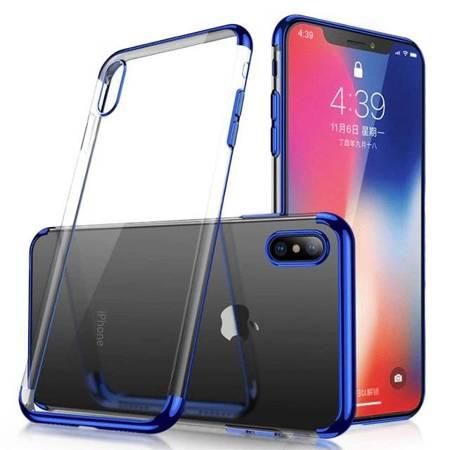 Clear Color case żelowy pokrowiec etui z metaliczną ramką Samsung Galaxy A50s / Galaxy A50 / Galaxy A30s niebieski