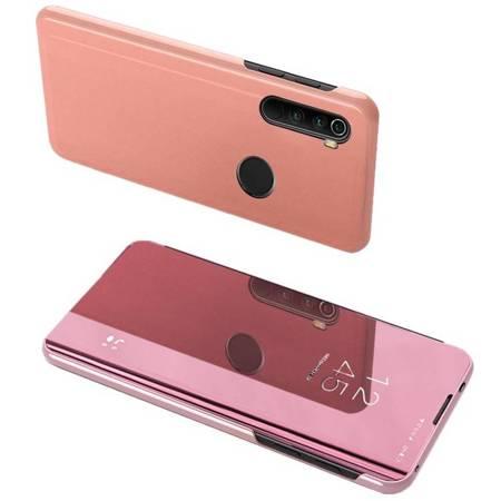 Clear View Case futerał etui z klapką Xiaomi Redmi Note 8 różowy