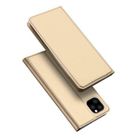 DUX DUCIS Skin Pro kabura etui pokrowiec z klapką iPhone 11 Pro złoty