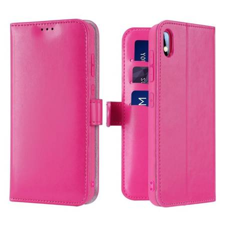 Dux Ducis Kado kabura etui portfel pokrowiec z klapką Samsung Galaxy A10 różowy