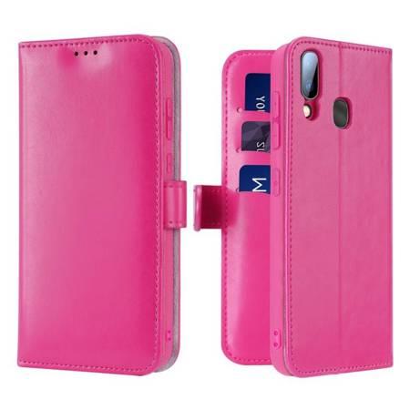 Dux Ducis Kado kabura etui portfel pokrowiec z klapką Samsung Galaxy A20e różowy