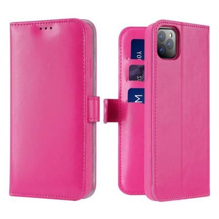 Dux Ducis Kado kabura etui portfel pokrowiec z klapką iPhone 11 Pro różowy