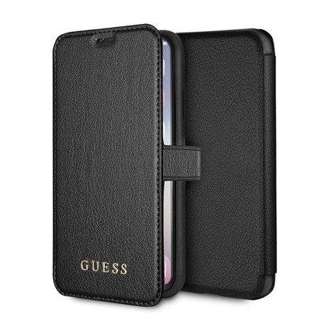 Etui Guess GUFLBKPXIGLBK iPhone X/Xs black /czarny book Iridescent