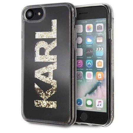 Etui Karl Lagerfeld KLHCI8KAGBK iPhone 7/8 czarny/black Karl logo Glitter