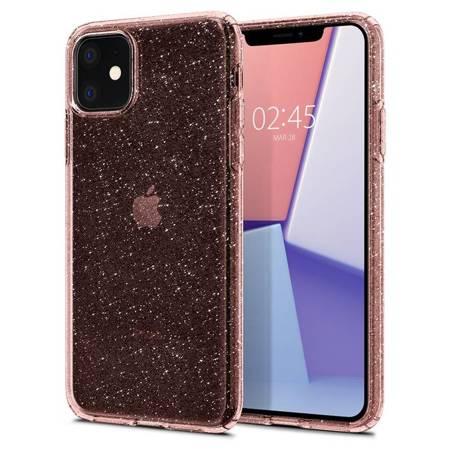 Etui Spigen Liquid Crystal Iphone 11 Glitter Rose