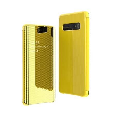 Flip View futerał etui z klapką Samsung Galaxy S10e żółty