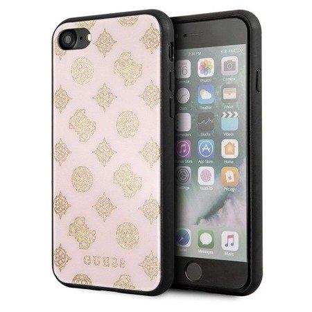 Guess GUHCI8TGGPLP iPhone 7/8 jasnoróż owy/light pink hard case Peony G Double Layer Glitter