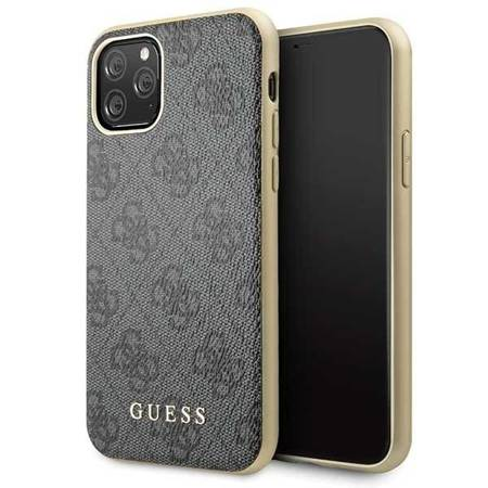 Guess GUHCN58G4GG iPhone 11 Pro szary/grey hard case 4G Collection