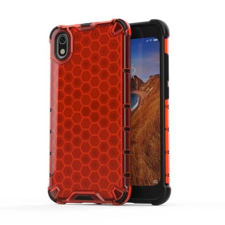 Honeycomb etui pancerny pokrowiec z żelową ramką Xiaomi Redmi 7A czerwony