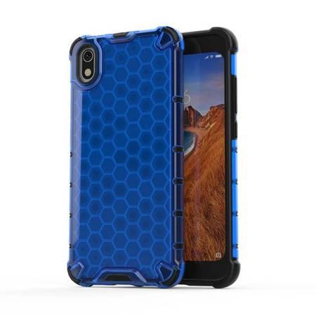 Honeycomb etui pancerny pokrowiec z żelową ramką Xiaomi Redmi 7A niebieski
