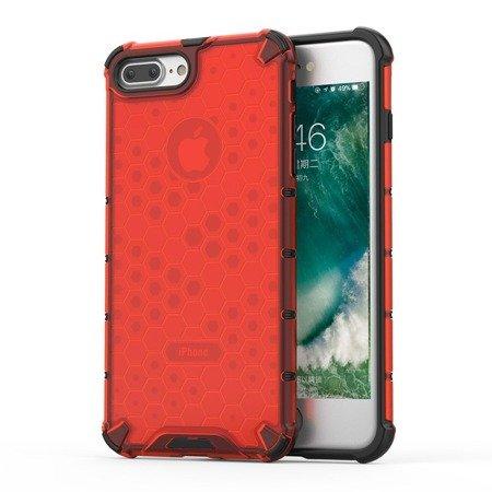 Honeycomb etui pancerny pokrowiec z żelową ramką iPhone 8 Plus / iPhone 7 Plus czerwony