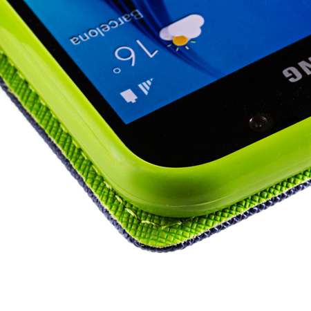 Kabura pokrowiec Fancy Series HTC Desire 320 granatowy zielony jasny
