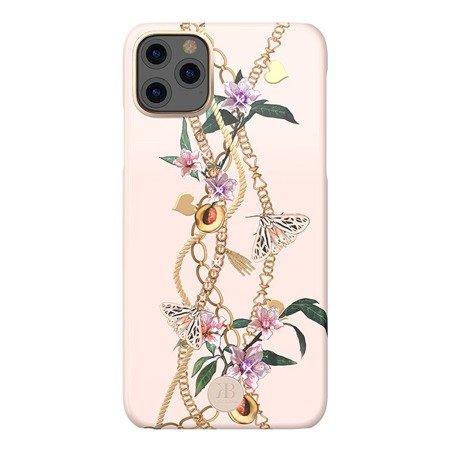 Kingxbar Luxury Series etui ozdobione oryginalnymi Kryształami Swarovskiego iPhone 11 Pro Max różowy