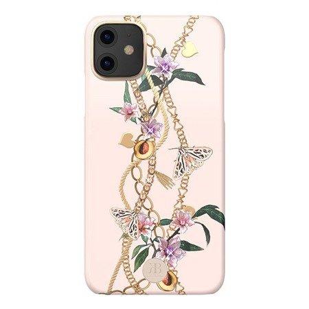 Kingxbar Luxury Series etui ozdobione oryginalnymi Kryształami Swarovskiego iPhone 11 różowy