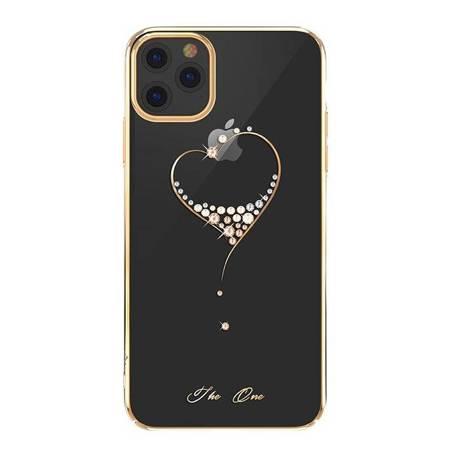 Kingxbar Wish Series etui ozdobione oryginalnymi Kryształami Swarovskiego iPhone 11 Pro złoty