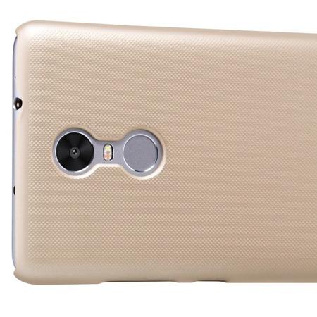 Nillkin etui Super Frosted Shield Xiaomi Redmi Note 3 + folia ochronna złote