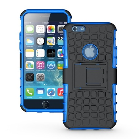Pancerne etui Kickstand iPhone 6S Plus niebieskie