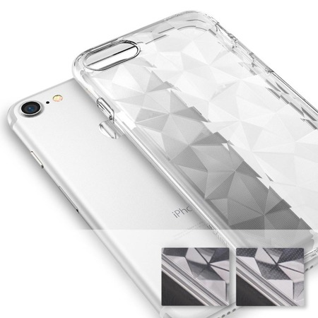Ringke Air Prism designerskie żelowe etui pokrowiec 3D iPhone 8 / 7 szary