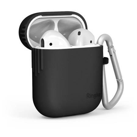 Ringke AirPods Case silikonowe etui case na słuchawki AirPods 2gen / 1gen czarny (ACEC0006)