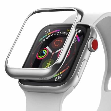 Ringke Bezel Styling etui ramka koperta pierścień Apple Watch 44 mm srebrny (RGAP0010)