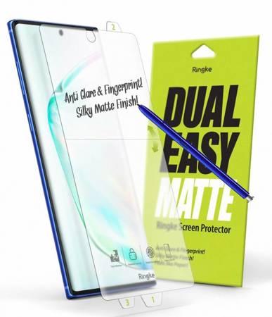 Ringke Dual Easy Matte Film 2x łatwa w przyklejeniu matowa folia Paper-like Samsung Galaxy Note 10 (EMSG0001)