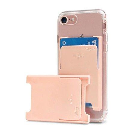 Ringke Slot Card Case etui na karty dokumenty przyklejane do telefonu różowy (ACSC0003)
