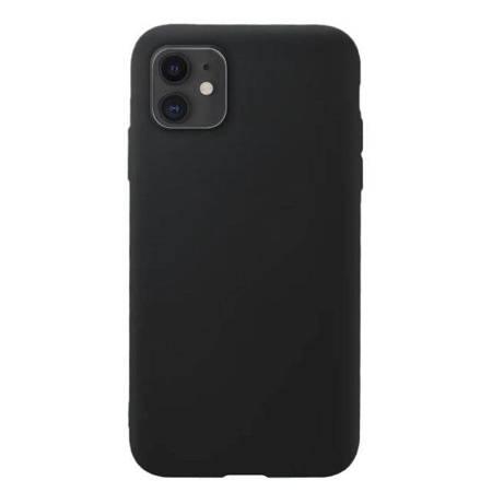 Silicone Case elastyczne silikonowe etui pokrowiec iPhone 11 czarny