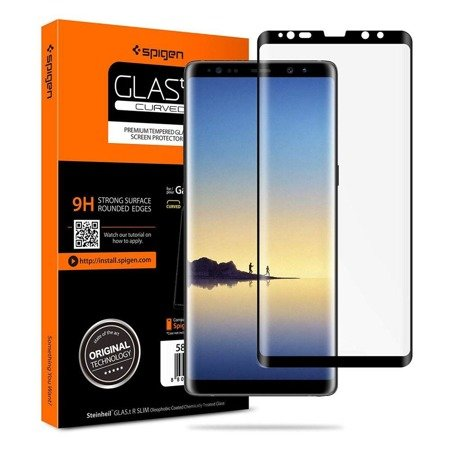 Szkło Hartowane Spigen Glas.Tr Case Friendly Galaxy Note 8 Black