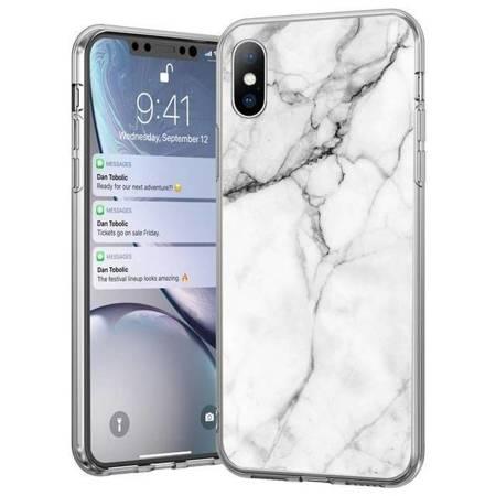 Wozinsky Marble żelowe etui pokrowiec marmur Huawei P30 Lite biały