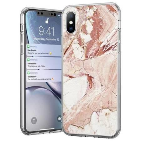 Wozinsky Marble żelowe etui pokrowiec marmur Samsung Galaxy A70 różowy