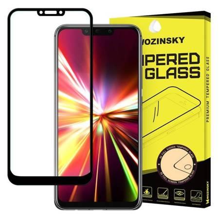 Wozinsky super wytrzymałe szkło hartowane Full Glue na cały ekran z ramką Case Friendly Huawei Mate 30 Lite czarny
