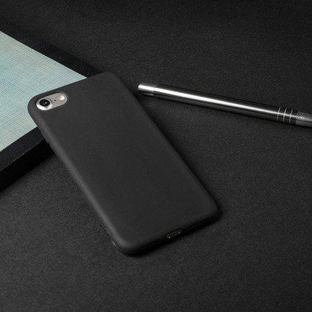 Żelowy pokrowiec etui Soft Matt iPhone 8 / 7 czarny